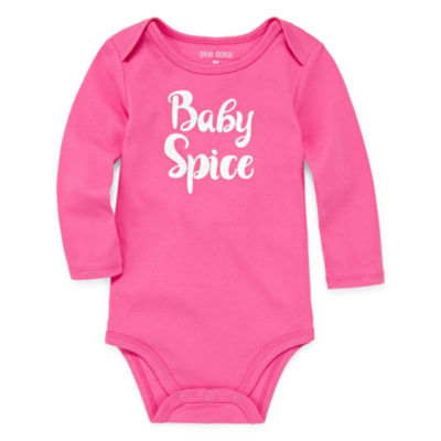 "Okie Dokie ""Baby Spice"" Long Sleeve Slogan Bodysuit - Baby Girl NB-24M"