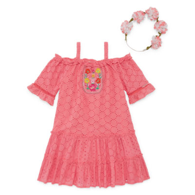 Self Esteem Short Sleeve Sundress - Toddler Girls