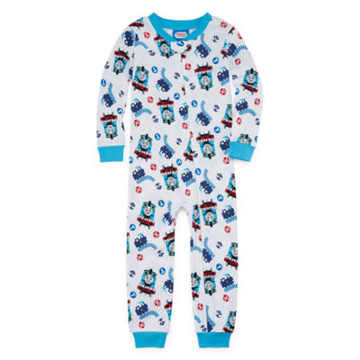 Boys Knit One Piece Pajama Thomas and Friends Crew Neck