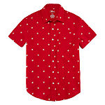 City Streets Boys Short Sleeve Button-Front Shirt Preschool / Big Kid