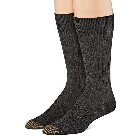 Gold Toe 2 Pair Crew Socks Mens