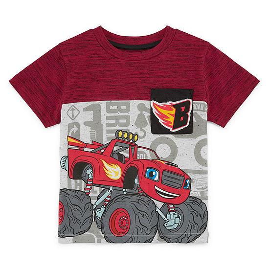Blaze Boys Crew Neck Short Sleeve Blaze and The Monster Machines Graphic T-Shirt-Toddler