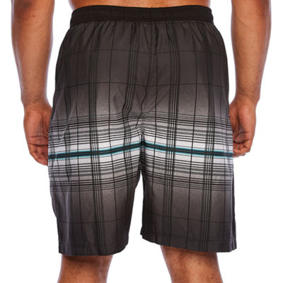 Burnside Plaid Swim Shorts Big and Tall