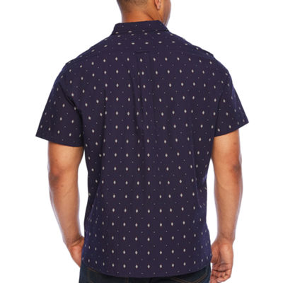 Jmco Short Sleeve Pattern Button-Front Shirt-Big and Tall
