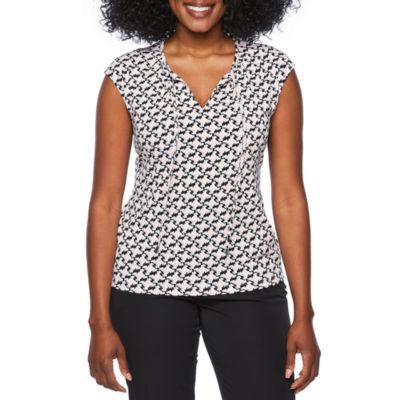 Liz Claiborne Sleeveless T-Shirt-Womens Petites