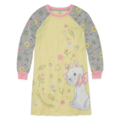 Disney Girls Knit Nightshirt Long Sleeve Round Neck
