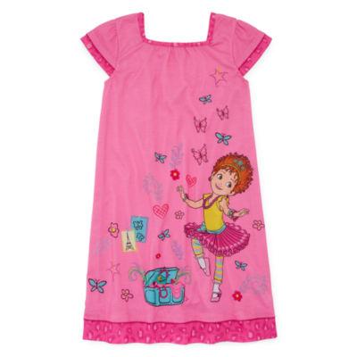 Disney Girls Knit Nightshirt Short Sleeve Square Neck