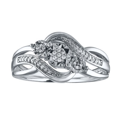 LIMITED TIME SPECIAL! 1/10 CT. T.W. White Diamond Sterling Silver Ring