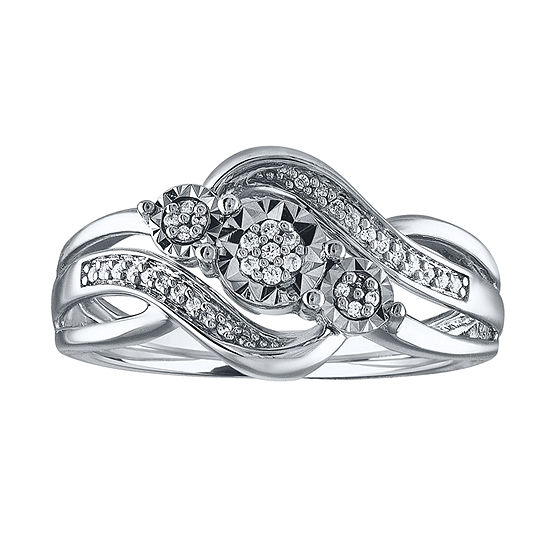 670ee8e8e LIMITED TIME SPECIAL! 1 10 CT. T.W. White Diamond Sterling Silver Ring -  JCPenney