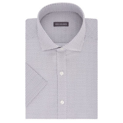 Van Heusen Short Sleeve Poplin Pattern Dress Shirt
