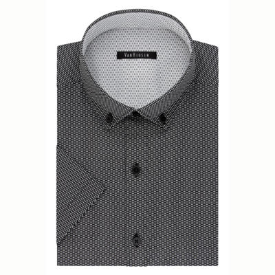 Van Heusen Mens Button Down Collar Short Sleeve Wrinkle Free Dress Shirt