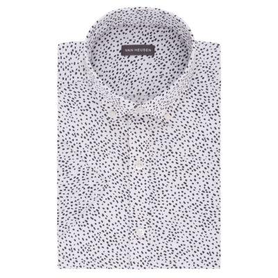 Van Heusen Mens Button Down Collar Short Sleeve Wrinkle Free Dress Shirt