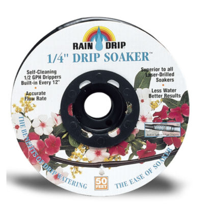"Rain Drip R280DT BLK 1/4"" X 50' Black Drip-A-LongWith Fittings"""