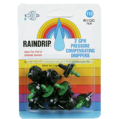 Rain Drip R112CT 2 GPH Drippers 10 Count