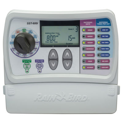 Rain Bird SST600I 6 Valve Indoor Mounting Simple To Set Timer