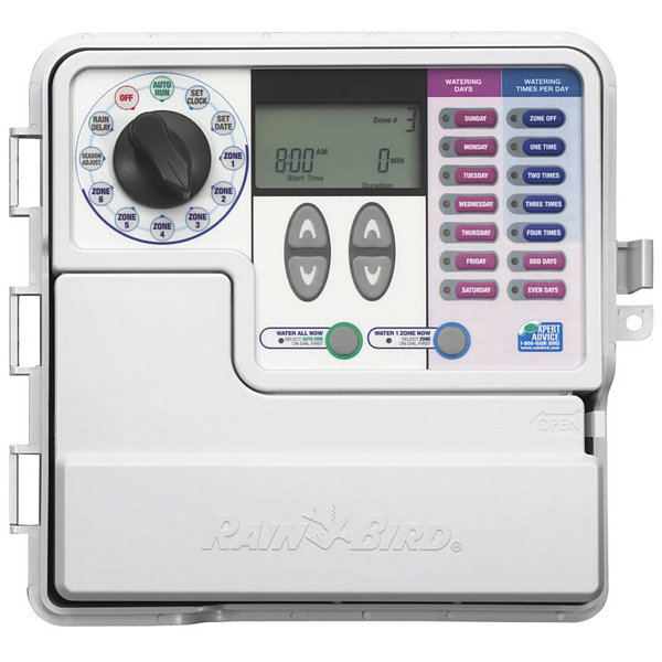 Rain Bird SST600O 6 Zone Indoor & Outdoor Simple To Set Timer