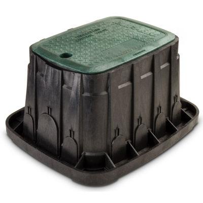 "Rain Bird VBREC12 12"" Green Rectangle Valve Box With Lid"""