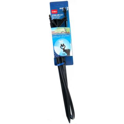 """Toro 53778 12"""" Quarter Pattern Micro-Spray Drip Stream Jet With Stake"""""""