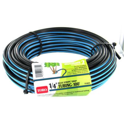 """Toro 53639 100' Roll 1/4"""" Blue Stripeª Drip Tubing"""""""