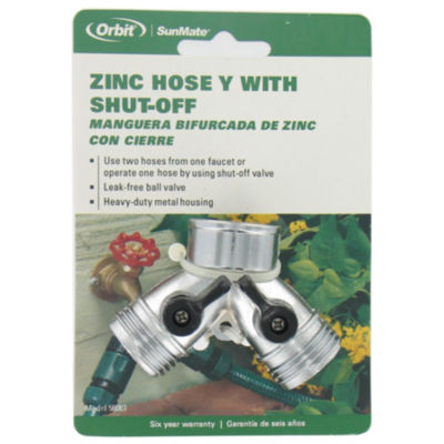 Orbit 58061N Zinc Hose Y With Shut-Off