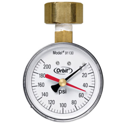 Orbit 91130 200 PSI Water Pressure Gauge