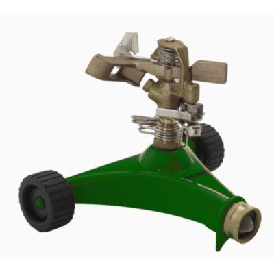 Dramm 10-15034 Green Impulse Sprinkler With HeavyDuty Metal Wheeled Base