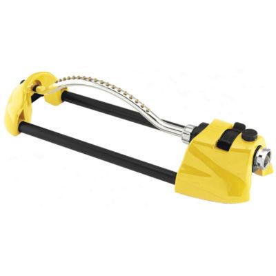 Dramm 10-15003 Yellow Prem Metal Oscillating Sprinkler W/Brass Nozzle Jets