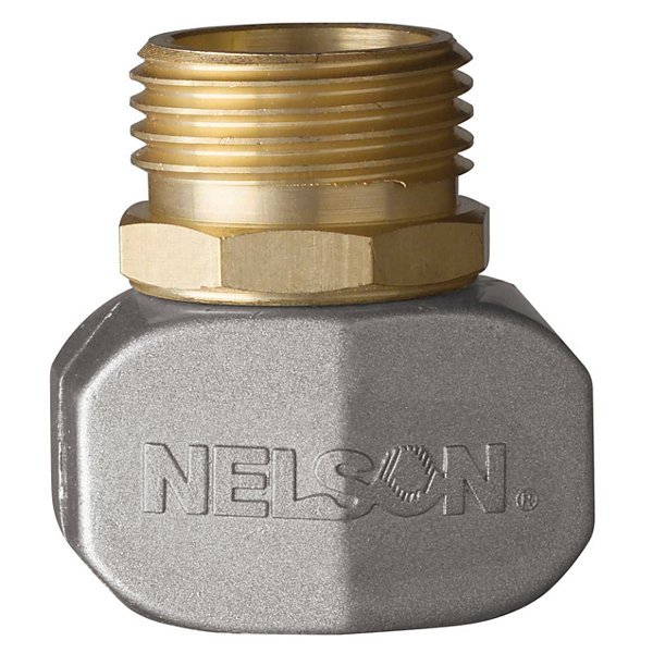 "Nelson 50520 5/8"" & 3/4"" Brass & Metal Male Hose Repair"""
