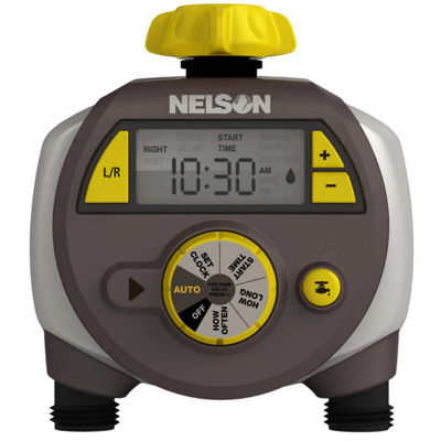 Nelson 56612 Large Double Outlet Timer With Easy To Read LCD Screen