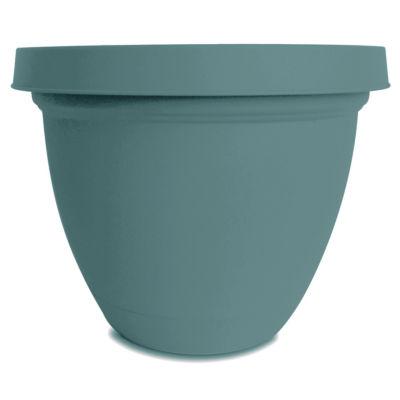"Akro Mils IFA14000BE4 14"" X 11.54"" Teal Infinity Self-Watering Planter"""