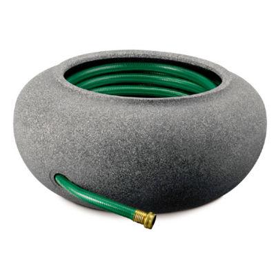 """Akro Mils RZ.GH210G21 21"""" Granite Garden Hose Pot& Planter"""""""