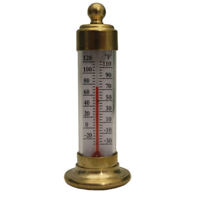 Conant T19LFB Brass Desk Thermometer