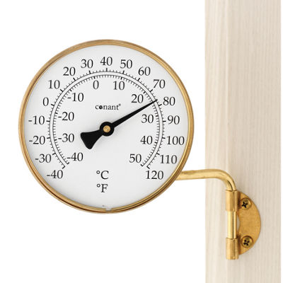 "Conant T6LFB 4-1/4"" Brass Dial Thermometer"""
