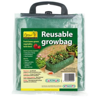 """Gardman 7500 39"""" X 16"""" X 9"""" Green Reusable Patio Grow Bag"""""""