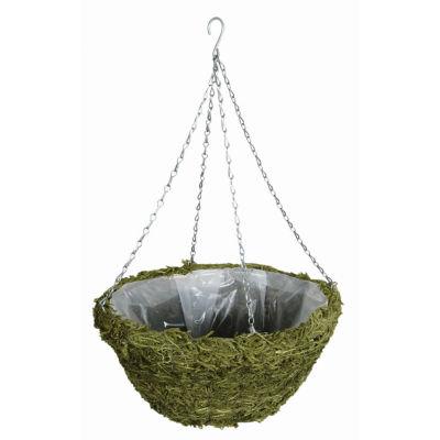 """Gardman R481 14"""" Green Moss Hanging Basket"""""""