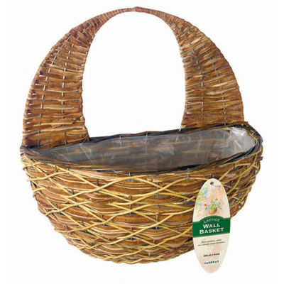 "Gardman R487 16"" Lattice Rattan Wall Basket"""