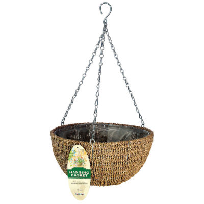 """Gardman R490 14"""" Woven Rope Hanging Basket"""""""