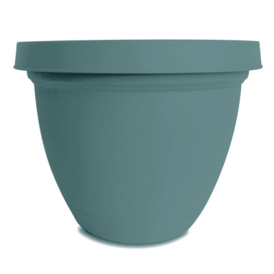 "Planters Pride IFA08000BE4 8"" Teal Infinity Self Watering Planter"