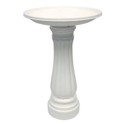 """Union Products 61010 25"""" X 17"""" White Round Bird Bath"""""""