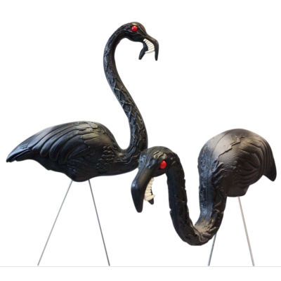 "Union Products 62363 30"" & 21"" Black Zombie Flamingos In Display Box 2 Count"""