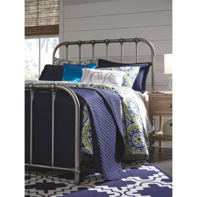 Signature Design by Ashley® Nashville Silver Metal Bed