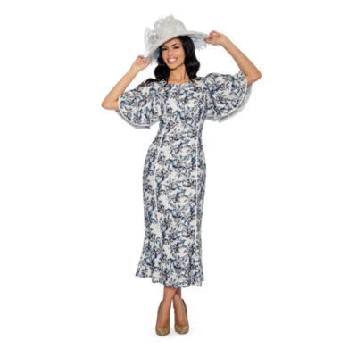 Giovanna Collection Women's Printed Long Dress - Plus