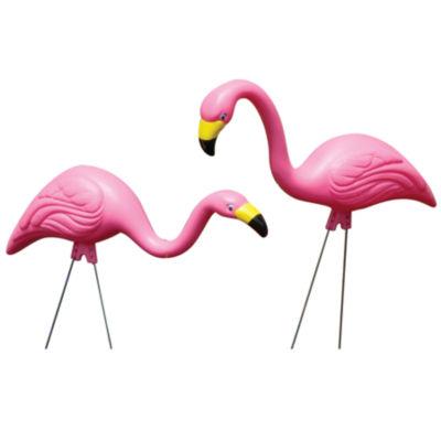Bloem Pink Flamingo Garden 2 Pack Yard Stake