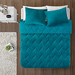 Intelligent Design Kai Solid Quilted Reversible Microfiber To Cozy Plush Comforter Set