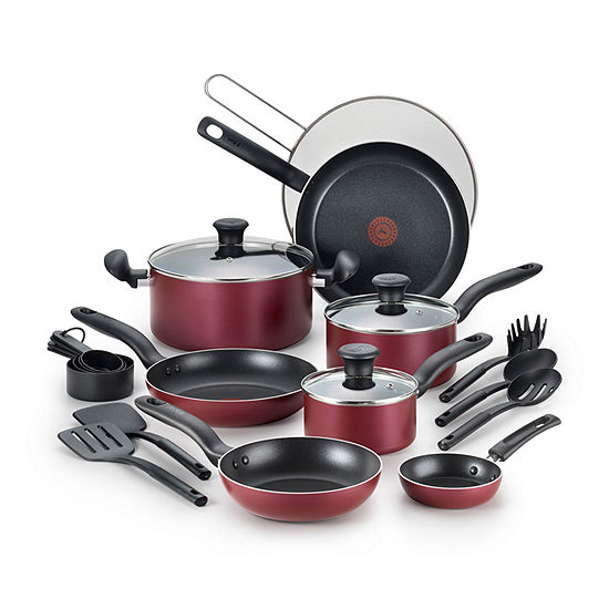 T-Fal 20-Pc. Aluminum Non-Stick Cookware Set
