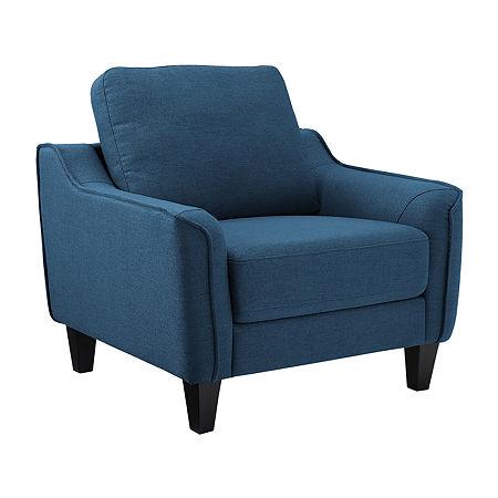 Signature Design By Ashley Jarreau Accent Chair, One Size , Blue