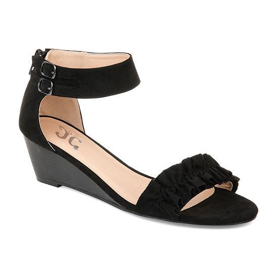 Journee Collection Womens Jc Aveya Pumps Open Toe Wedge Heel