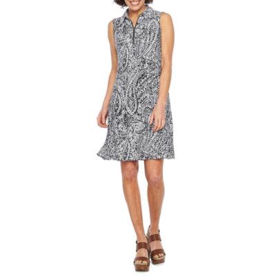 MSK Sleeveless Paisley Swing Dresses
