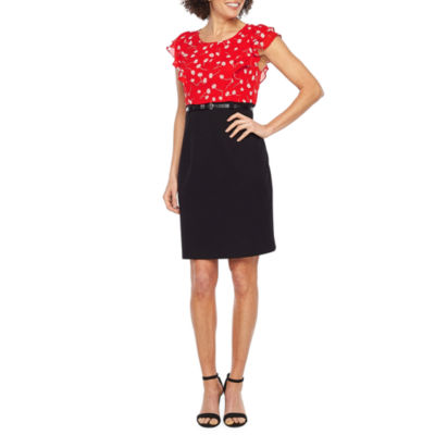 Alyx Short Sleeve Floral Sheath Dress