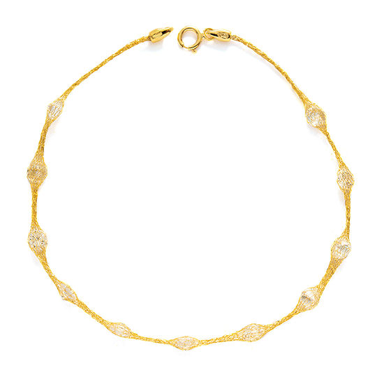 Made in Italy 10K Gold 7.5 Inch Hollow Link Bracelet